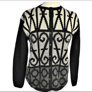 Vintage 50s Cowhican Wool Sweater Cardigan